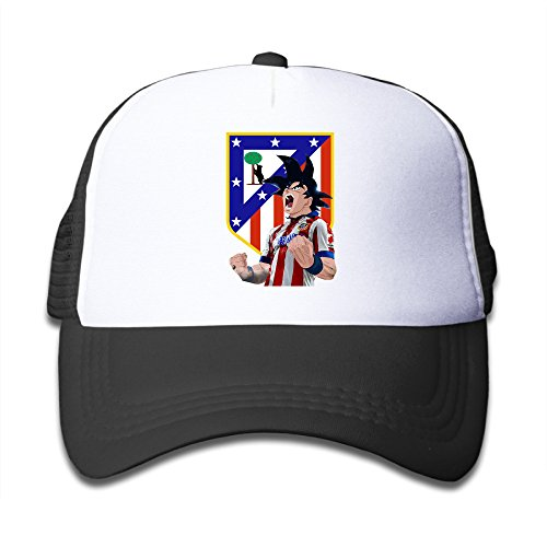 JSWALA Atletico Madrid Football Son Goku Custom Mesh Caps Snapback Hats For Kids Child Black (Goku Children)