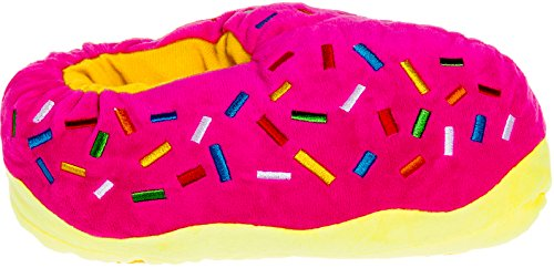 by Food Slippers Silver Novelty Lilly Donut Slippers Yellow Plush Dessert OO8Y1Bwq