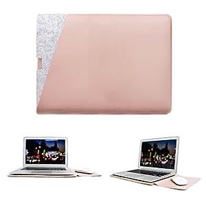 WALNEW Sleek Protective Soft Sleeve Case Cover Carry Bag Holder Dual Pocket Design MacBook Air 13 Inch MacBook Pro Retina 13 inch