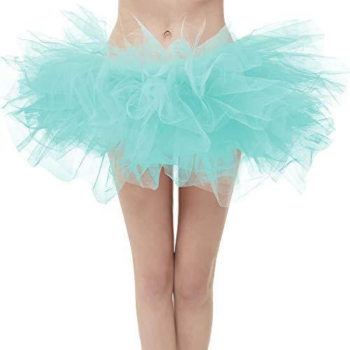 Topdress Layered Tulle Tutu Skirts Mint Green Plus ()
