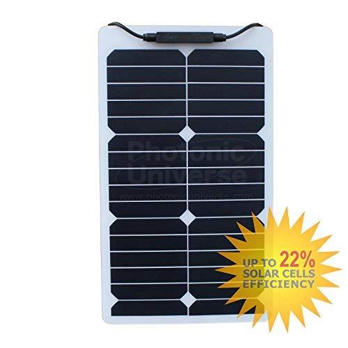 pour camping-car 20/W Panneau solaire souple en Back-contact cellules avec rev/êtement /Éthyl/ène T/étrafluoro/éthyl/ène durable bateau camping-car caravane RV