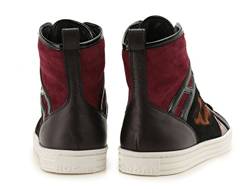 HOGAN REBEL FEMME HXW1410S6509MJ0AT0 MULTICOLORE CUIR BASKETS MONTANTES