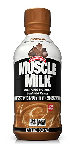 Professional Muscle Building - Muscle Milk Genuine Protein Shake, Chocolate, 34g Protein, 17 FL OZ (Pack of 12)