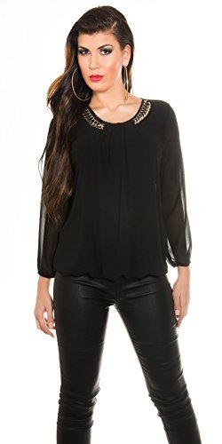In-Stylefashion - Camiseta sin mangas - para mujer negro