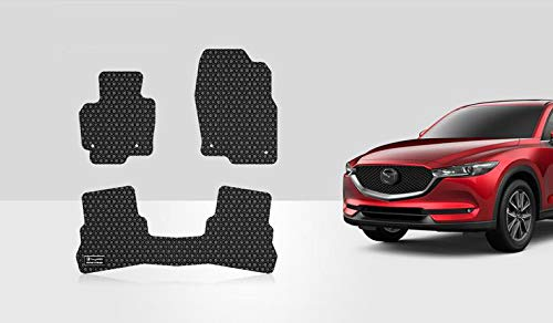 ToughPRO Floor Mats Set (Front Row + 2nd Row) Compatible with Mazda CX-5 - All Weather - Heavy Duty - (Made in USA) - Black Rubber - 2017, 2018, 2019