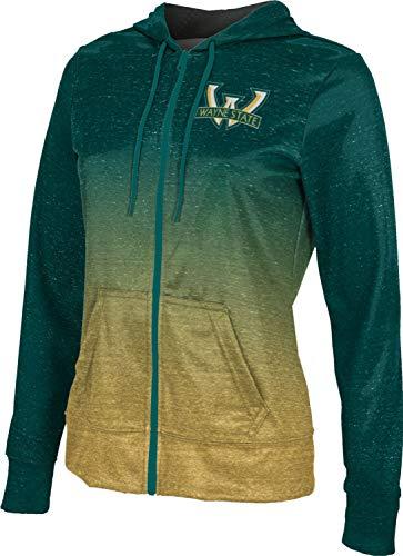 ProSphere Wayne State University Women's Zipper Hoodie, School Spirit Sweatshirt (Ombre) FCFD Green and Gold