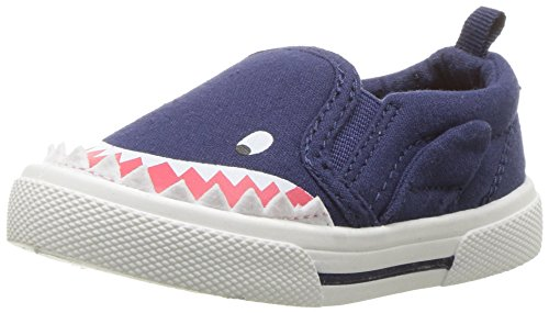 carter's Boys' Damon Casual Slip-on Sneaker, Indigo, 10 M US Toddler
