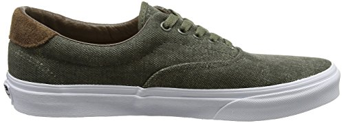 Vans Era 59, Baskets Basses Homme Vert (C/yellow)