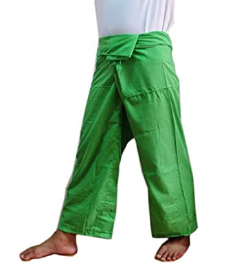 """THAI SMILE"" Thai Beautiful Fisherman Pant Yoga Cotton Free Size (light Green)"