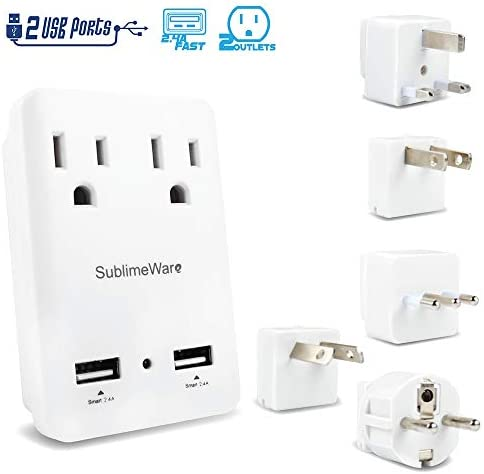 2000 Travel Adapter Ports Outlets product image
