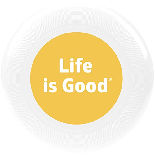 Life is Good Lig Dot Disc, Cloud White, One Size (Flying Life Good Is)
