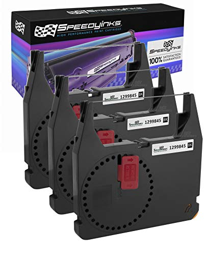 Speedy Inks Compatible Printer Ribbon Cartridge Replacement for IBM 1299845 (Black, 3-Pack)