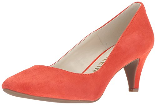 Anne Klein Women's Rosalie Pump, Medium red Suede, 8 M US