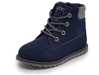 Nautica Kids Boys Chukka Boot Lace-Up and Zipper Bootie Toddler Little Kids-Daven-Navy-5