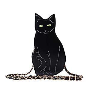 LUI SUI Womens Black Cat Purse Dinosaur Crossbody Bags Girls Flamingo Animal Purse Bags Chic Clutch Bags