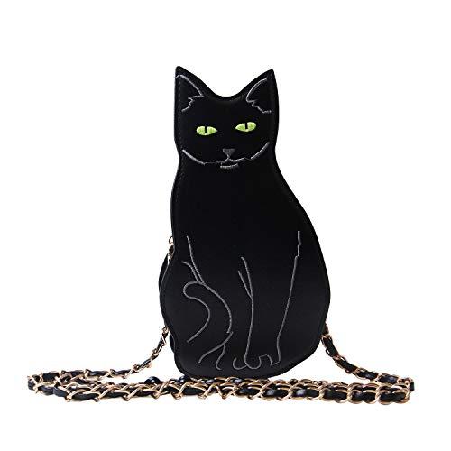 LUI SUI Womens Black Cat Purse Dinosaur Crossbody Bags Girls Flamingo Animal Purse Bags Chic Clutch Bags