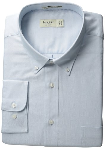 Haggar Regular Fit Pinpoint Oxford Solid