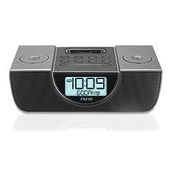 iHome iP42 Dual Alarm Clock Radio for iPod and iPhone (Gun Metal Gray)
