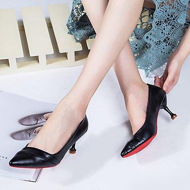 La confort PU zapatos zapatos noche beige Fall Black vestido Ruby WIKAI Tacones atlética caminar mujer Stiletto comodidad y talón parte de formales formal negro 4afqdY