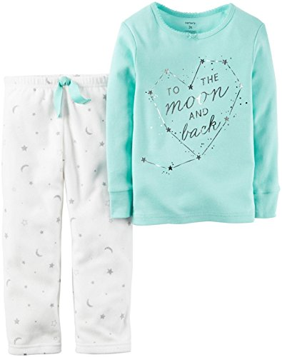 Carter's Girls' 2 Pc Fleece 357g164, Blue To The Moon, 2T La 2 Pc