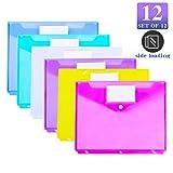 12 Pack Poly Binder Pocket, Side Loading,Letter