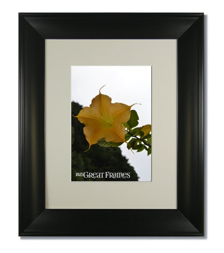 Set of 6 - 16x16 Metro Black Picture Frames with Clear Glass and Single Warm White Mats for 12x12