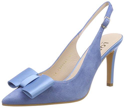 Lodi Zapatos Tacón Mujer ante Ram Punta Serenity Azul Serenity De Cerrada Para Con OqrO5
