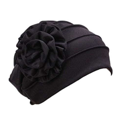 SHOBDW Womens Hats, Women Muslim Stretch Turban Hat Chemo Flower Hair Loss Head Scarf Wrap Hijib Cap
