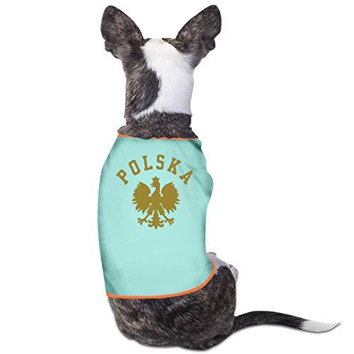 DLOAHJZH-Q Polska Polish Country Pride Small Coat Dog Cat Vest Pet Sleeveless T Shirt