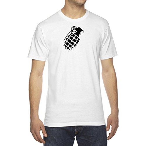 Men's Grenade Drip Splatter Snowboard T-Shirt - X-Large (Luna Snowboard)