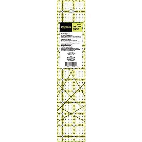 Dritz Omnigrip Non Slip Quilter's Ruler, 2-1/2 by 12-1/2-Inch RN25125