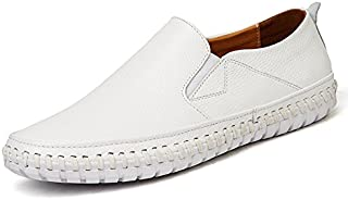 LOVDRAM Chaussures De Conduite Manuelle Hommes en Cuir d'affaires Décontractée Hommes Chaussures De Conduite Manuelle Respirant Chaussures De Paresseux Hommes 38-47 LOVDM