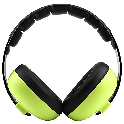 XUZOU Sound Ear Muffs,Kids Earmuffs Hearing Protection,Infant Headphones,Junior Baby Ear Defenders,Headphones Noise Reduce,Baby Headphones Noise Reduction,for Children,Women(Green) from XUZOU