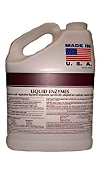 Patriot Chemical Sales 1 Gallon Septic Tank Treatment Liquid Enzymes Grease Trap Cleaner 2 Year Supply Industrial Strength