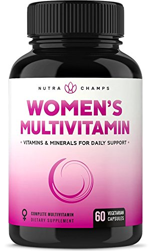 Women's Daily Multivitamin Supplement - Vegan Capsules with Biotin,  Vitamins ABCDEK, Calcium,