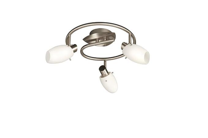 Plafoniera Vetro Satinato Bianco : Massive usagi plafoniera spirale spot luci acciaio spazzolato e