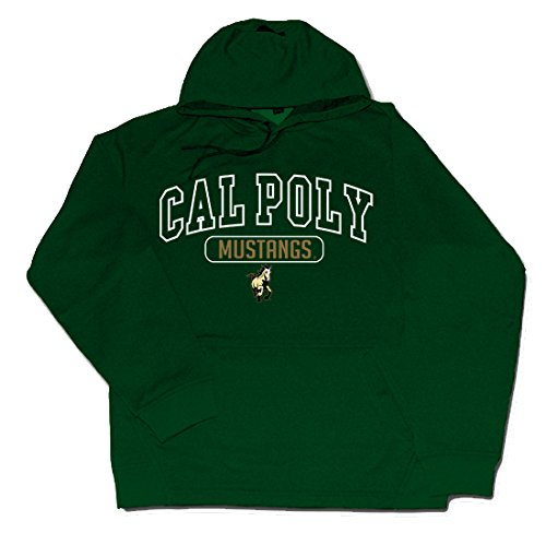 (NCAA Cal Poly Mustangs Braylon Performance Hood, Forest, X-Large)