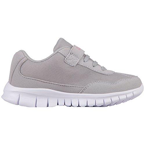 Kappa Mädchen Follow Kids Sneaker, Grau (1422 l´Grey/Pink), 28 EU