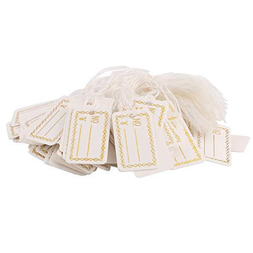 Label String - 100pcs Labels Tie String Strung Tickets Jewelry Watch Clothing Merchandise Display Tags F1fb - Display Tags Label String Garment Tags Watch Merchandise Retro Ticket Name Card S ()