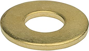 Commercial Flat Washer Brass Package Qty 100 3//8 24