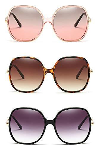 70s Super Oversize Square Sunglasses for Women Vintage Rectangular Plastic Frame (The Trio Pack, ()