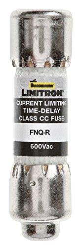 BUSSMANN FNQ-R-1-1-4 FNQ-R Series Time Delay 600 V 1.25 A Ø 10.3 x 38.1 mm TRON Cartridge Fuse - 1 item(s) (Fuse Delay Time Tron)