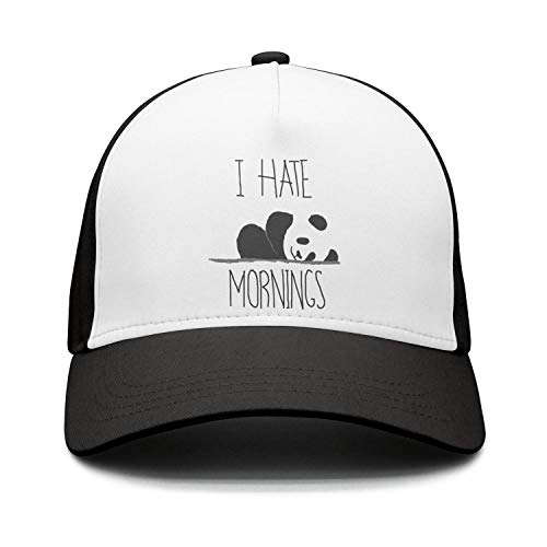 PPLLMMA I Hate Mornings Panda Sketch Washed 100% Cotton Classic Adjustable c Low Profile Cap Hat