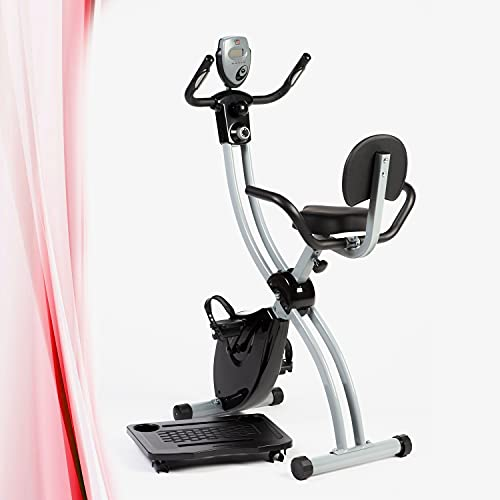 YM X-Bike Cardio Fitness hometrainer, ruimtebesparend, inklapbaar, met PC opbergdoos