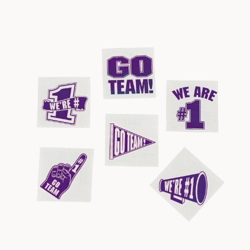 Purple Go Team Tattoos (6 dz)