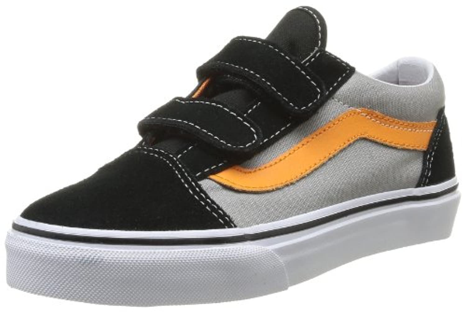 Vans K Old Skool V Pop, Unisex Kids' Hi-Top Trainers, Black (Blk/Blk Enr), 1 UK