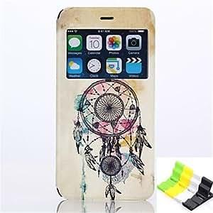 ZMY windbell patrón pu funda de piel de todo el cuerpo tiene un perfume y el sostenedor del teléfono para el iphone 6 más