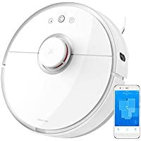 Roborock Mi Robot Vacuum S5 Sweep-Mop Robotic Cleaner Wi-Fi Connected Laser Navigating Strong Suction For All Floor Types with 1 Mopping Cloth, White