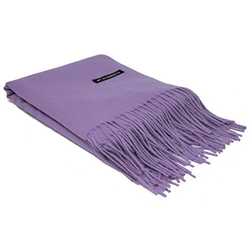 (Violet Purple 100% Cashmere Scarf - Gift Box, Large Size, Removable Tag, Limited Availability)