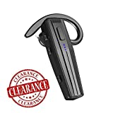 Bluetooth Headset【Upgraded Bluetooth V5.0】 Bluetooth Earpiece, Handfree Bluetooth Headset and Mute Key for Business/Office/Driving